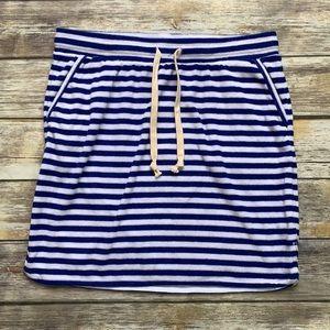J. Crew Terry Stripe Mini Skirt